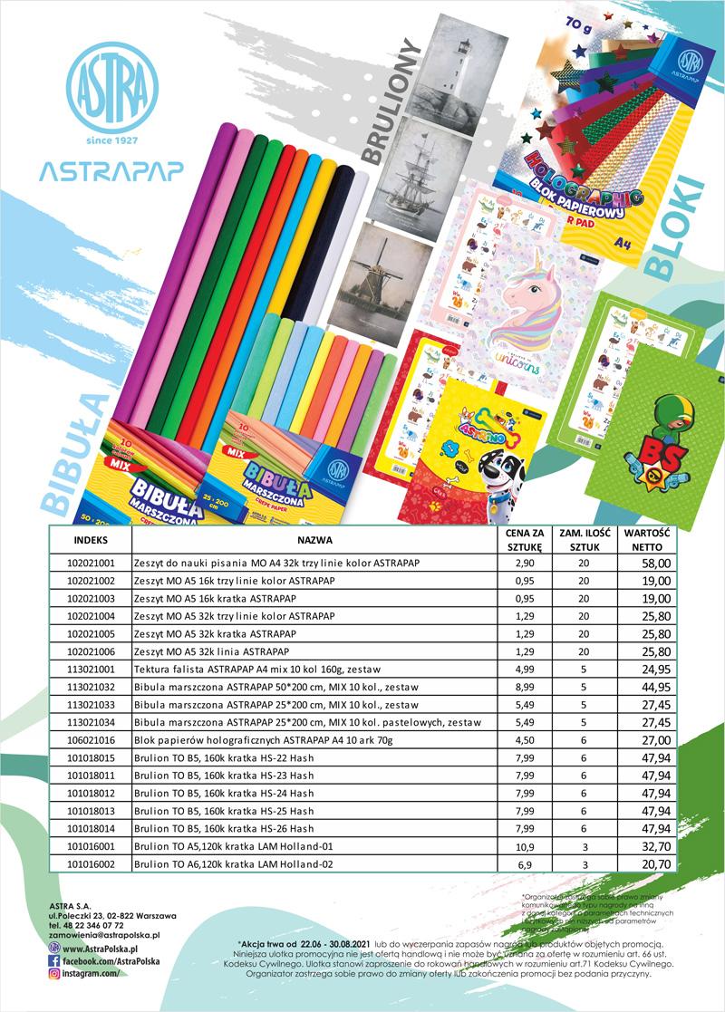 Pakiety promocyjne Astra